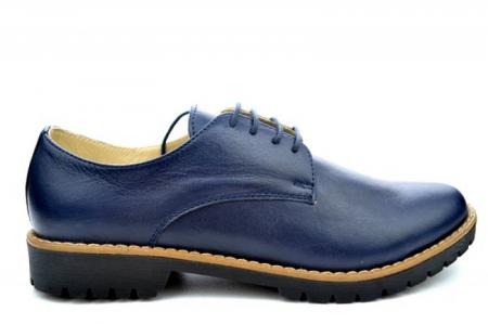 Pantofi Casual Piele Naturala Bleumarin Kristine D011130