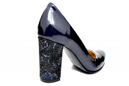 Pantofi cu toc Piele Naturala Bleumarin Luana D018283
