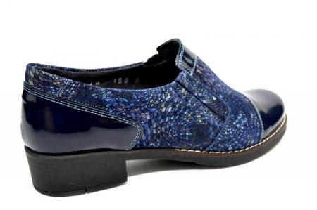 Pantofi Casual Piele Naturala Bleumarin Lucille D012760