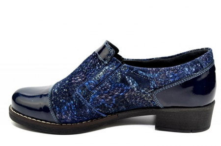 Pantofi Casual Piele Naturala Bleumarin Lucille D012762