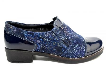 Pantofi Casual Piele Naturala Bleumarin Lucille D012763