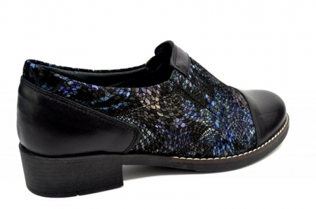 Pantofi Casual Piele Naturala Negri Lucille D012771