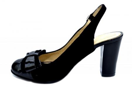 Pantofi Dama Piele Naturala Negri Moda Prosper Luna D012841