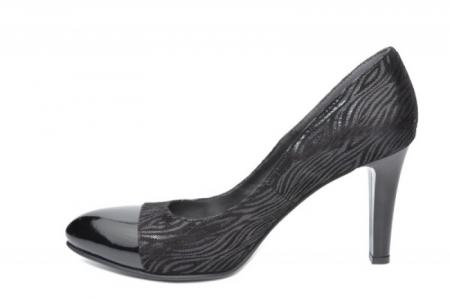 Pantofi cu toc Piele Naturala Negri Moda Prosper Madonna D01906 [1]
