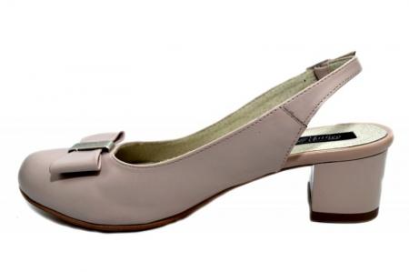 Pantofi Dama Piele Naturala Bej Magdalena D012981