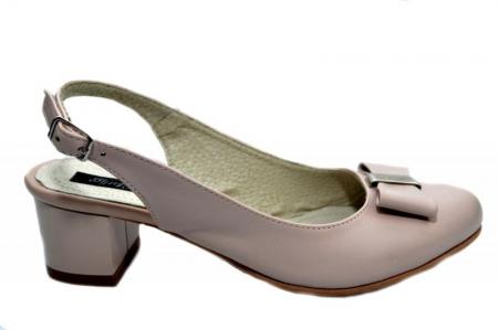 Pantofi Dama Piele Naturala Bej Magdalena D012980