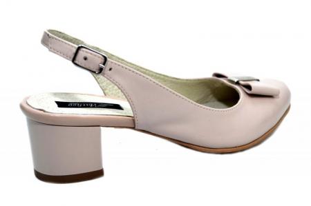 Pantofi Dama Piele Naturala Bej Magdalena D012983