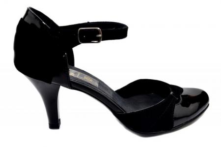Pantofi Dama Piele Naturala Negri Marta D013420