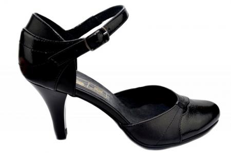 Pantofi Dama Piele Naturala Negri Marta D013430