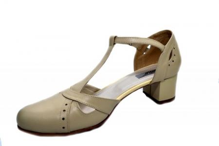 Pantofi Dama Piele Naturala Bej Helene D01296 [2]