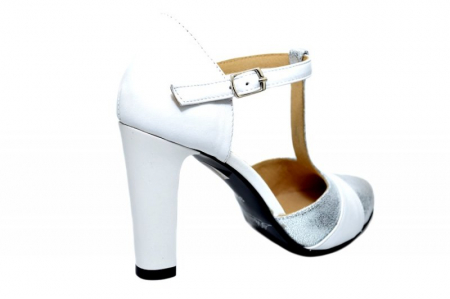 Pantofi Dama Piele Naturala Albi Milena D018363