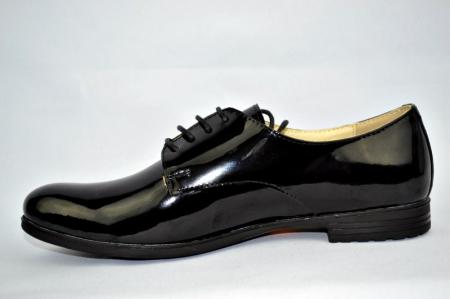 Pantofi Oxford Piele Naturala Negri Melina D008941