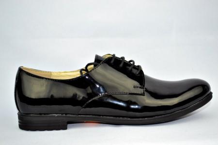 Pantofi Oxford Piele Naturala Negri Melina D008940