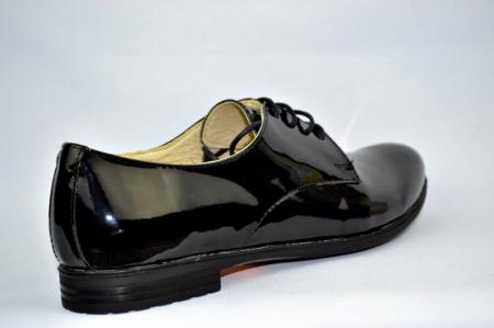 Pantofi Oxford Piele Naturala Negri Melina D008944