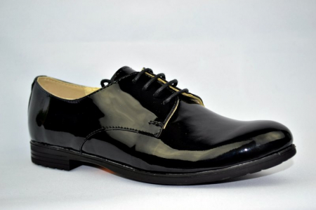 Pantofi Oxford Piele Naturala Negri Melina D008943