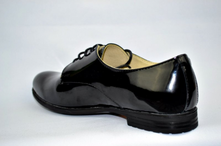 Pantofi Oxford Piele Naturala Negri Melina D008945