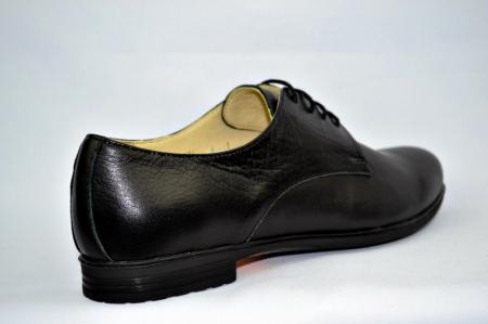 Pantofi Casual Piele Naturala Negri Elina D008954