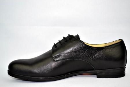 Pantofi Casual Piele Naturala Negri Elina D008951