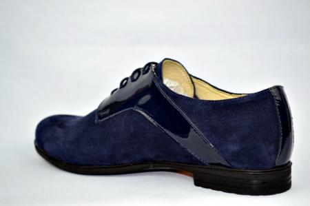 Pantofi Oxford Piele Naturala Bleumarin Viki D008975