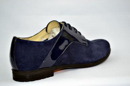 Pantofi Oxford Piele Naturala Bleumarin Viki D008974