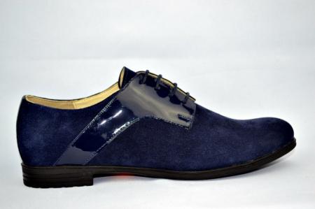 Pantofi Oxford Piele Naturala Bleumarin Viki D008970