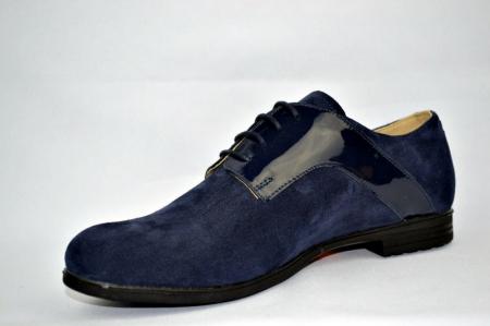 Pantofi Oxford Piele Naturala Bleumarin Viki D008972