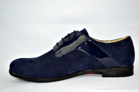 Pantofi Oxford Piele Naturala Bleumarin Viki D008971