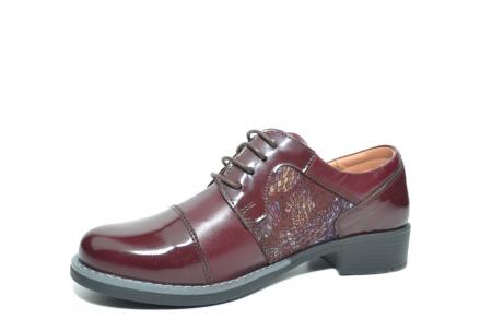 Pantofi Oxford Piele Naturala Grena Anita D022042