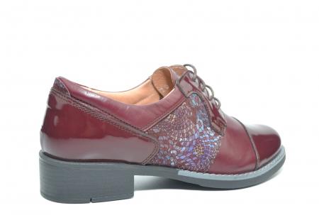 Pantofi Oxford Piele Naturala Grena Anita D022043