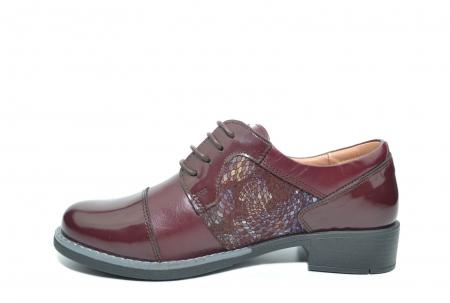 Pantofi Oxford Piele Naturala Grena Anita D022041