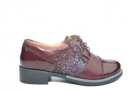 Pantofi Oxford Piele Naturala Grena Anita D022040