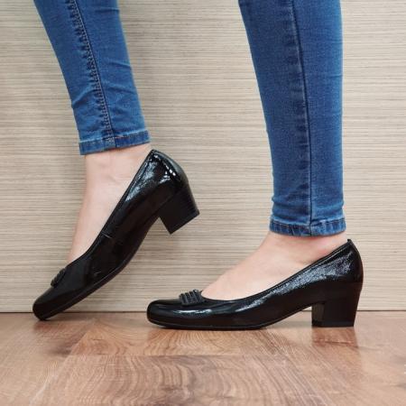 Pantofi cu toc Piele Naturala Ara Negri Agnia D025091