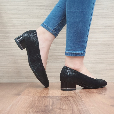 Pantofi cu toc Piele Naturala Ara Negri Linsdey D02482 [3]
