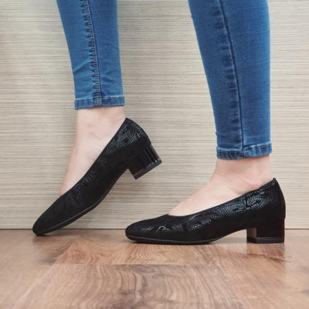 Pantofi cu toc Piele Naturala Ara Negri Linsdey D02482 [1]