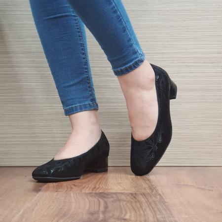 Pantofi cu toc Piele Naturala Ara Negri Linsdey D02482 [2]