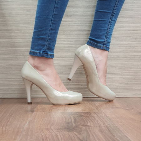 Pantofi cu toc Piele Naturala Aurii Mira D024950