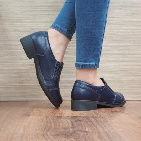 Pantofi Casual Piele Naturala Bleumarin Lucille D024673