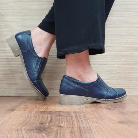 Pantofi Casual Piele Naturala Bleumarin Lucille D02522 [3]