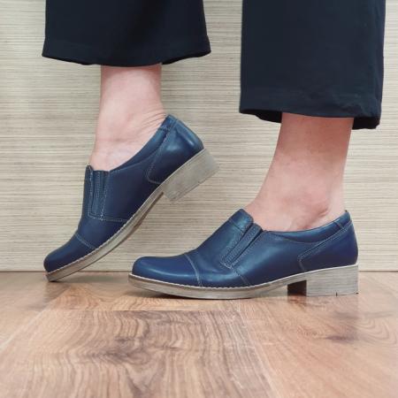 Pantofi Casual Piele Naturala Bleumarin Lucille D02522 [1]