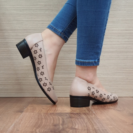Pantofi cu toc Piele Naturala Cafenii Judy D024573