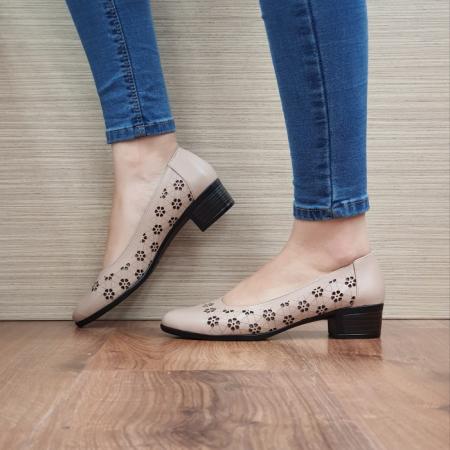 Pantofi cu toc Piele Naturala Cafenii Judy D024571