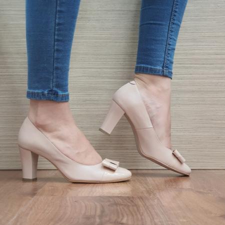 Pantofi cu toc Piele Naturala Corvaris Nude Coria D024790