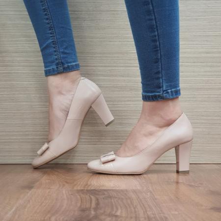 Pantofi cu toc Piele Naturala Corvaris Nude Coria D024791