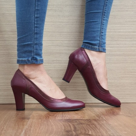 Pantofi cu toc Piele Naturala Grena Genoveva D02491 [0]