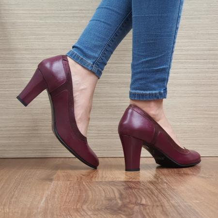 Pantofi cu toc Piele Naturala Grena Genoveva D024913