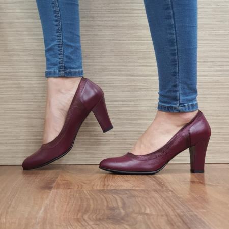 Pantofi cu toc Piele Naturala Grena Genoveva D024911
