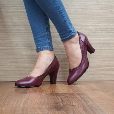 Pantofi cu toc Piele Naturala Grena Genoveva D024912