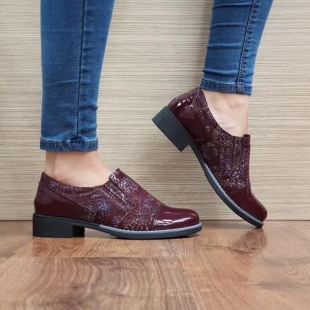Pantofi Casual Piele Naturala Grena Lucille D025200