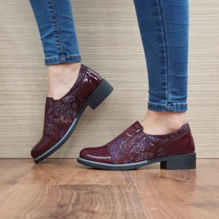 Pantofi Casual Piele Naturala Grena Lucille D025201