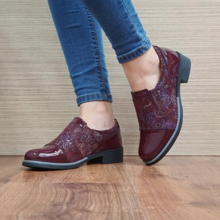 Pantofi Casual Piele Naturala Grena Lucille D025202